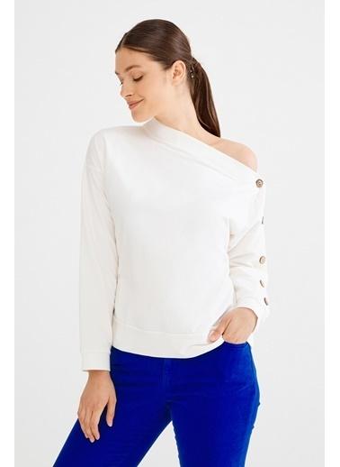 Love My Body Sweatshirt Beyaz